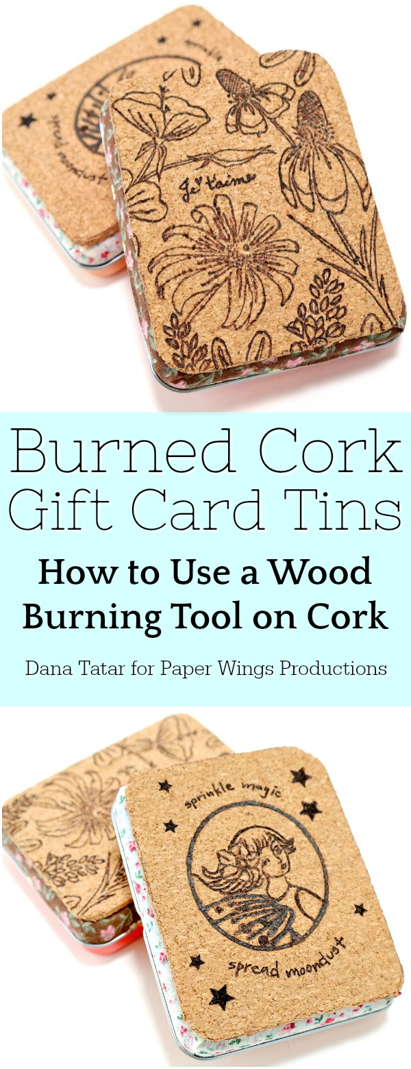 Burned Cork Gift Card Tin Tutorial