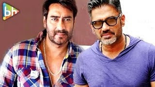 Bollywood stars and producers, Ajay Devgn and  Suniel Shetty