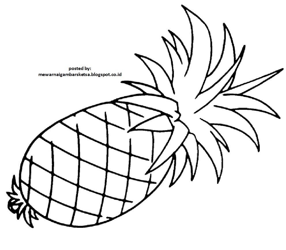mewarnai gambar contoh mewarnai gambar buah