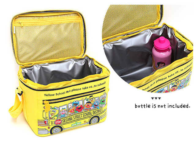 Sesame Street School Bus Picnic Insulated Cooler Lunch Bag