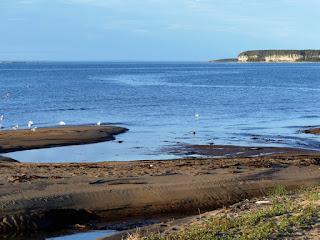 Diverses vues du fleuve Saint-Laurent sur la côte nord
