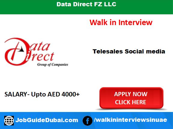 Walk in interview job in Dubai for Telesales social media at Data Direct FZ LLC