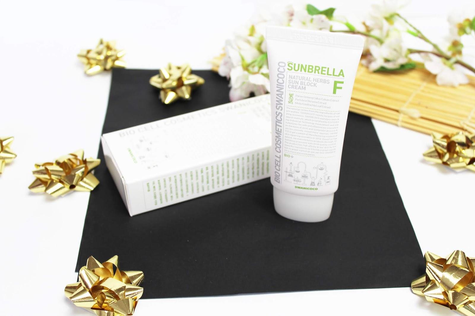 Swanicoco, Natural Herbs Sun Block Cream, Sunbrella F