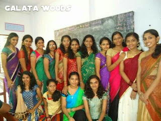 Images of actress Lakshmi Menon childhood days with her school friends.