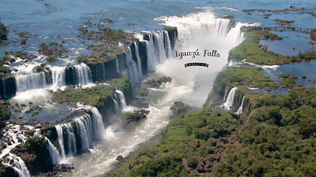 Bird view of Iguazu fall