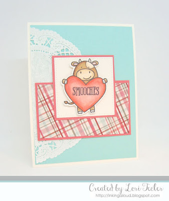 Smooches card-designed by Lori Tecler/Inking Aloud-stamps from Avery Elle