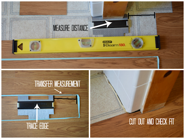 Use a Contour Gauge to Make Complicated Cuts in Vinyl Floor Tiles