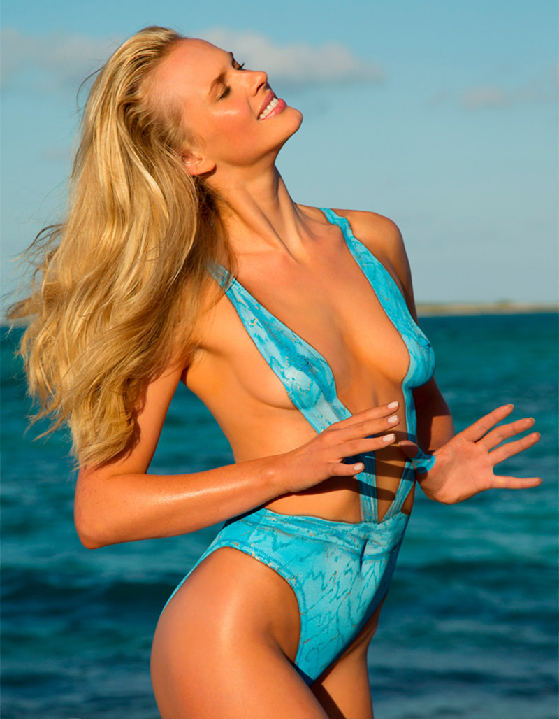 SI painted on swimsuits