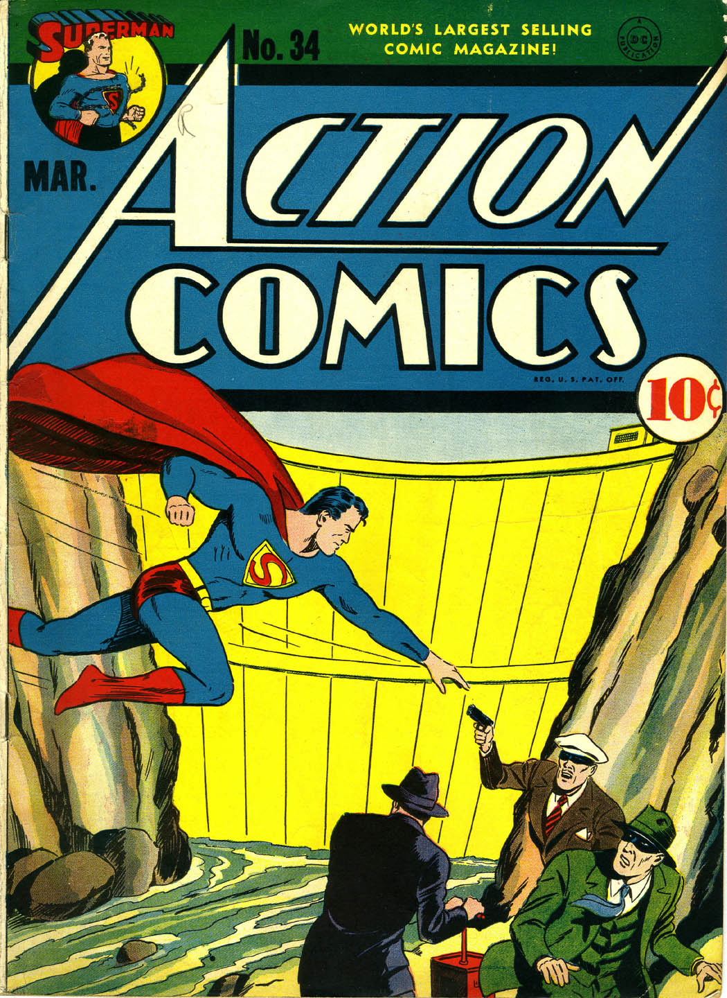 Read online Action Comics (1938) comic -  Issue #34 - 1