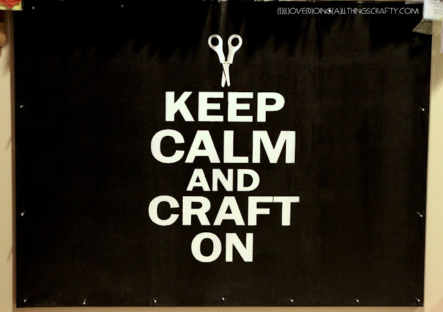 KEEP CALM AND CRAFT ON | DIY Peg Board Painting