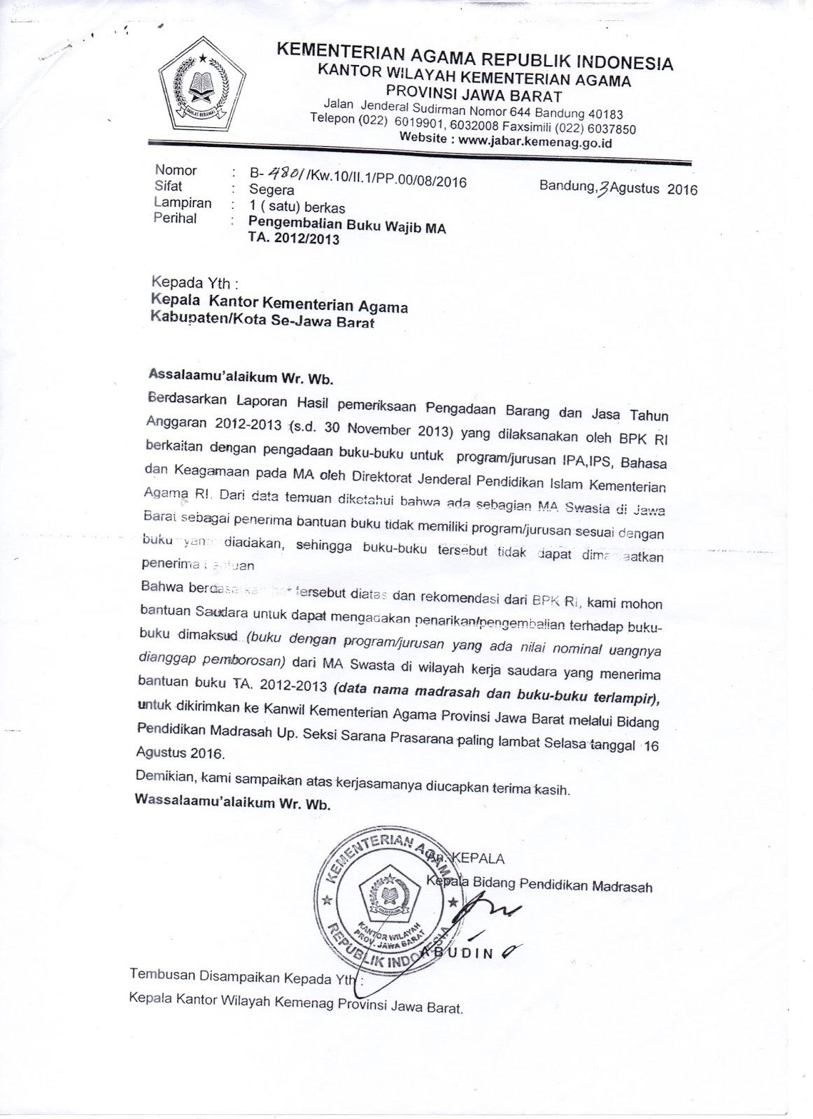 Hasil Temuan Bpk Badan Pemeriksa Keuangan Di Madrasah