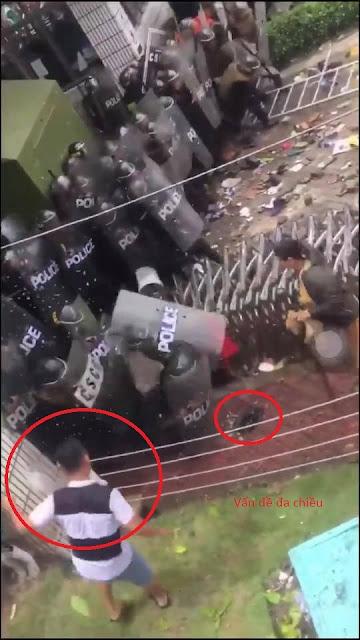Kẻ ném tảng đá vào đầu cảnh sát cơ động tại TP HCM bị bắt