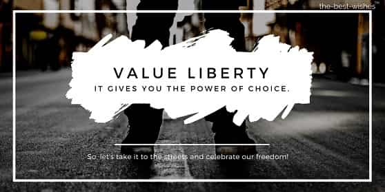 good morning quotes with value liberty freedom