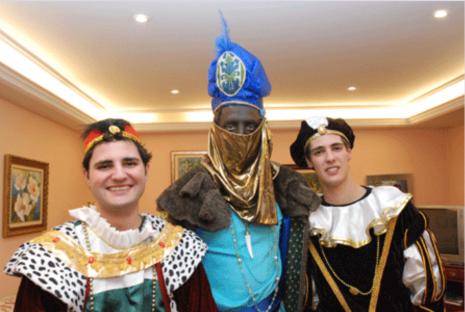 Los pajes con el rey mago Baltasar