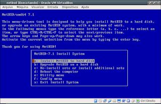 Instalação passo a passo do NetBsd