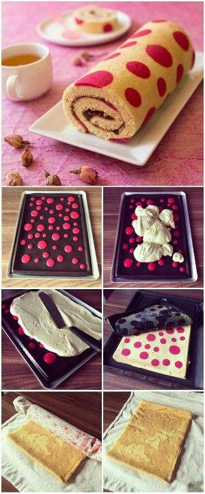 лайфхак, цветное тесто, торт,