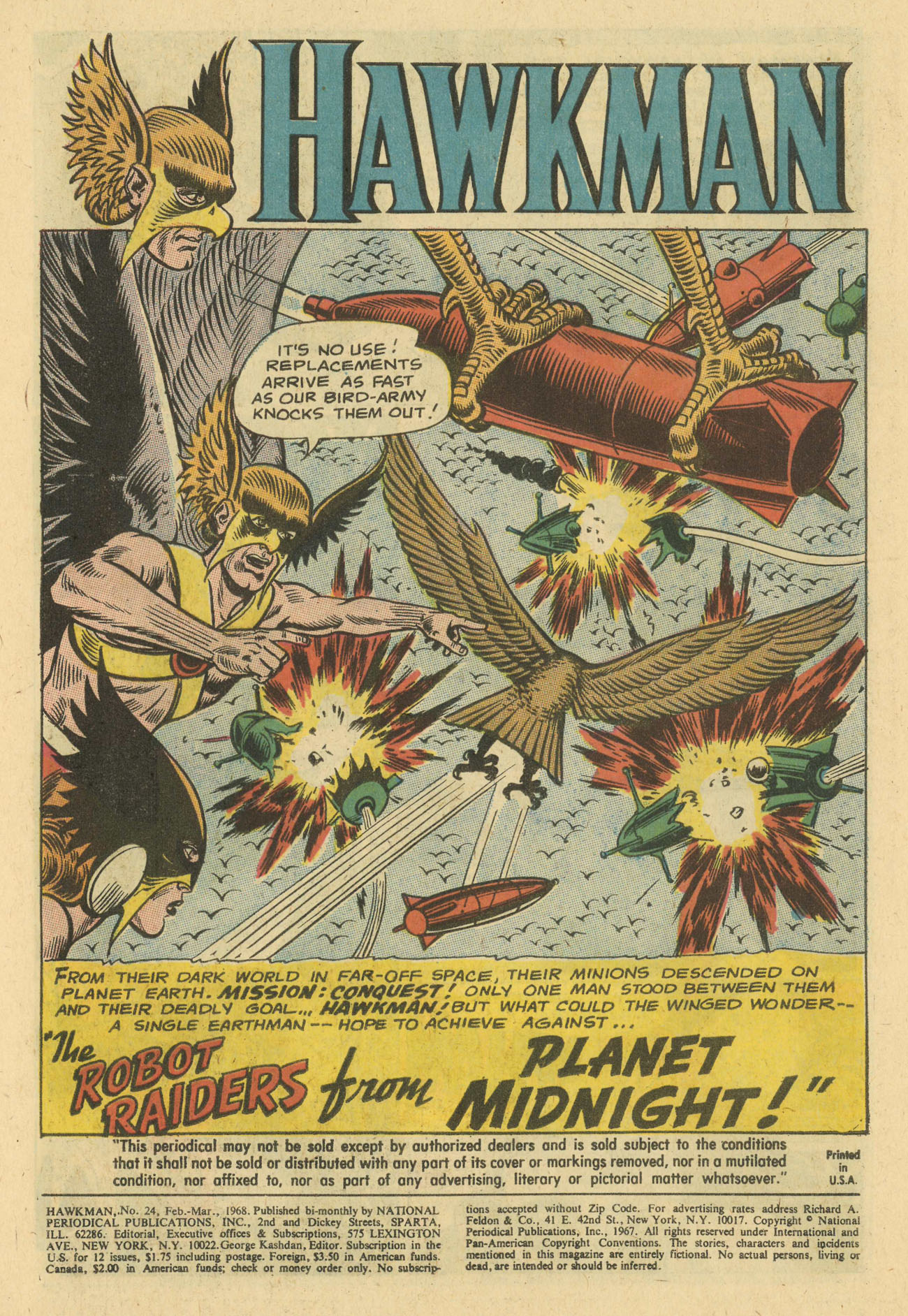 Hawkman (1964) issue 24 - Page 3