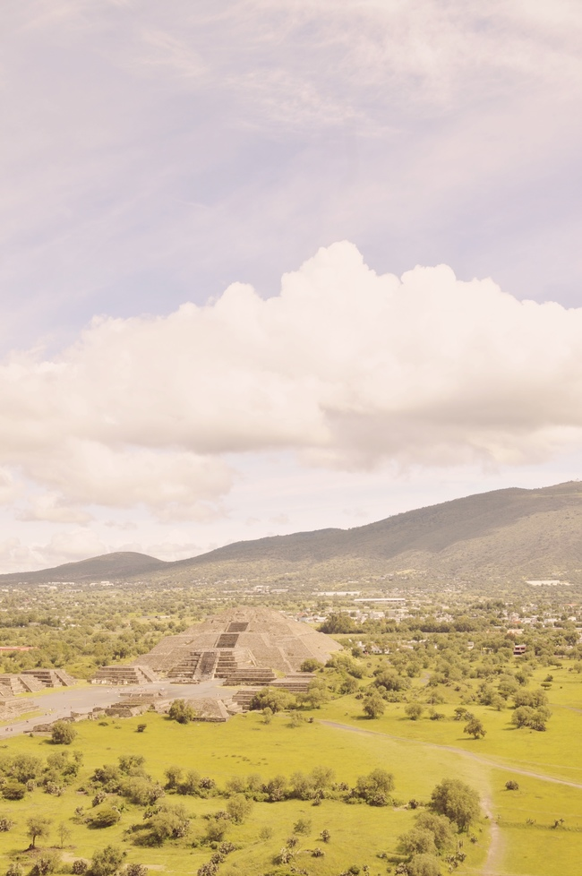 Visiting Teotihuacan Mexico City Day Trip pyramid of the sun view