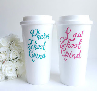 Law School Grind coffee tumbler | brazenandbrunette.com
