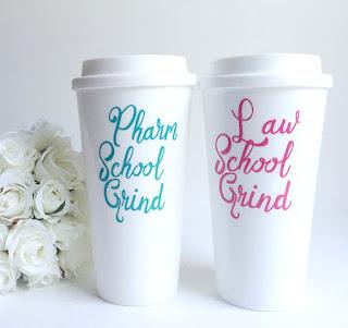 Law School Grind coffee tumbler | brazenandbrunette.com