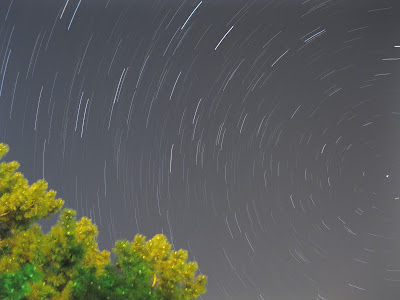 star trail circles