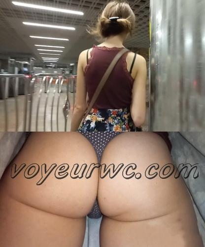 Upskirts 3505-3524 (Upskirts Voyeur Escalator - Sexy upskirt video with a random woman's booty)