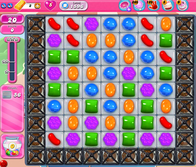 Candy Crush Saga 1596