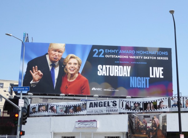 Saturday Night Live Trump Clinton Emmy nominations billboard