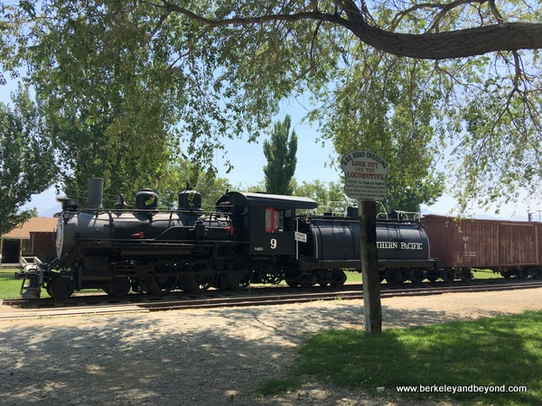 antique train at Laws Railroad Museum and Historic Site in Bishop, California