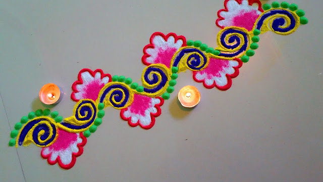 Simple Rangoli Border Designs