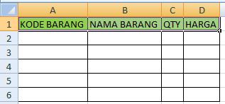 mengenal table dan judul pada excel
