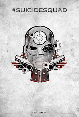 "Suicide Squad ""Harleys Tattoo Parlor"" Teaser Character One Sheet Movie Poster Set - Deadshot"