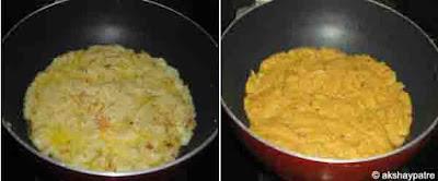 add saffron milk and almond powder