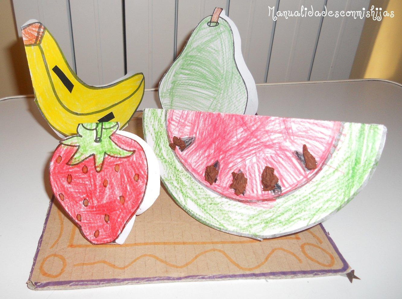 Manualidades Con Mis Hijas Cesta De Frutas - Manualidades-con-frutas-para-nios