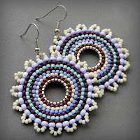 купить яркие серьги на лето ручная работа бисерные украшения