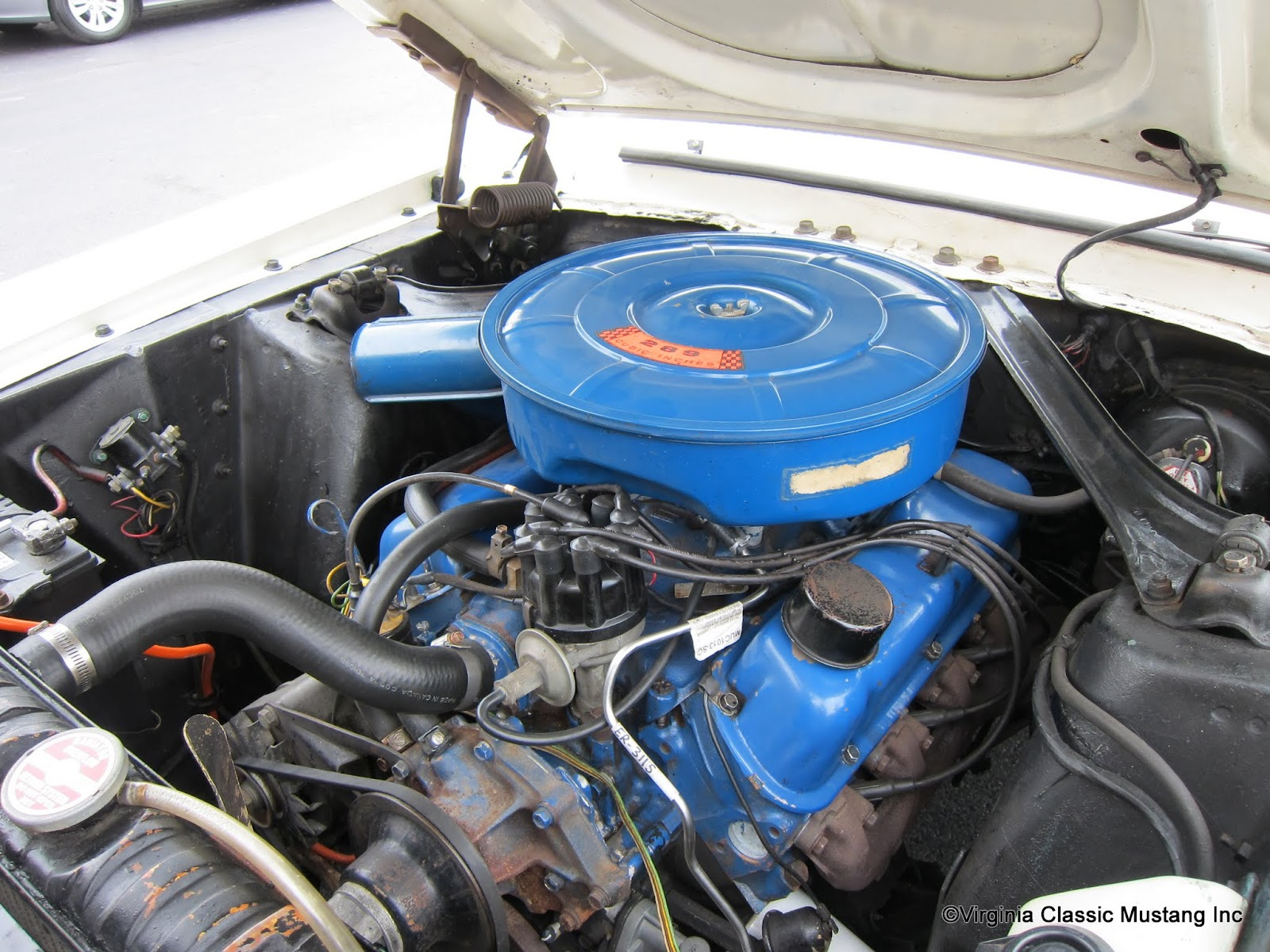 1967 gt mustang coupe 289 4v engine the paint on the engine is original [ 1600 x 1200 Pixel ]