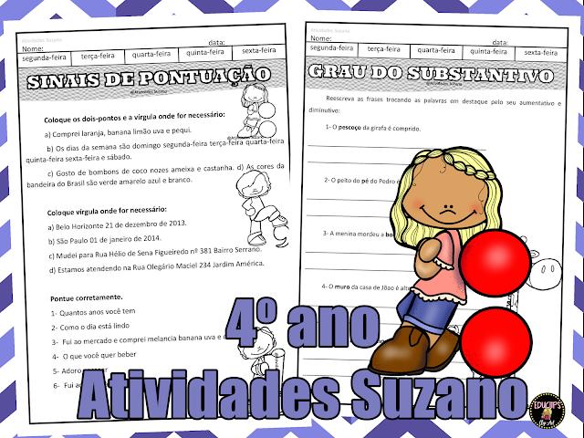 Língua portuguesa, pontuação, leitura, alfabetização
