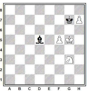 Estudio artístico de ajedrez compuesto por Abram S. Gurvitch (Shakhmaty 1929)