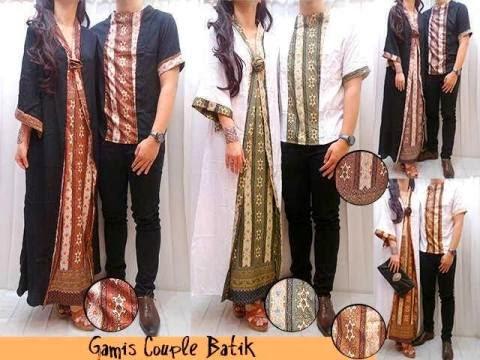 Butik Muslimah OLShop Jual Baju Muslim Couple CP Kaftan Etnik Batik