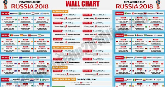 FIFA World cup 2018 Time Table
