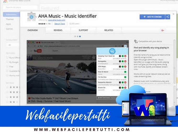 AHA Music - Music Identifier | Estensione Google Chrome per scoprire il titolo delle canzoni