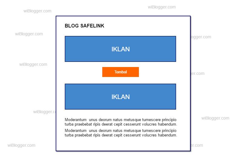 Sistem blog safelink