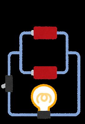 並列回路のイラスト(電池)