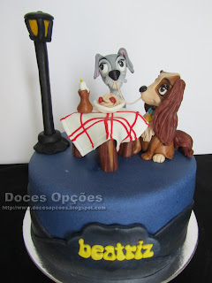 birthday cake Lady and the Tramp