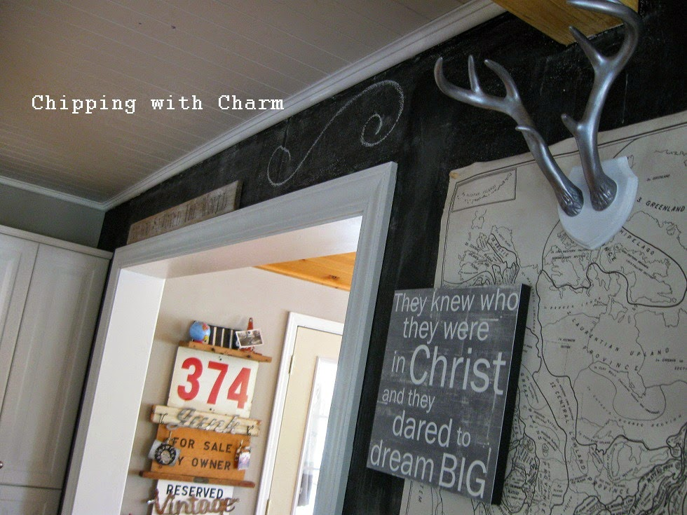 Chipping with Charm: Chalkboard Wall...http://www.chippingwithcharm.blogspot.com/