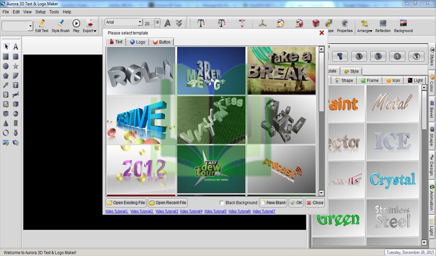 Create 3D Logo with Aurora 3D Text amp Logo Maker YouTube