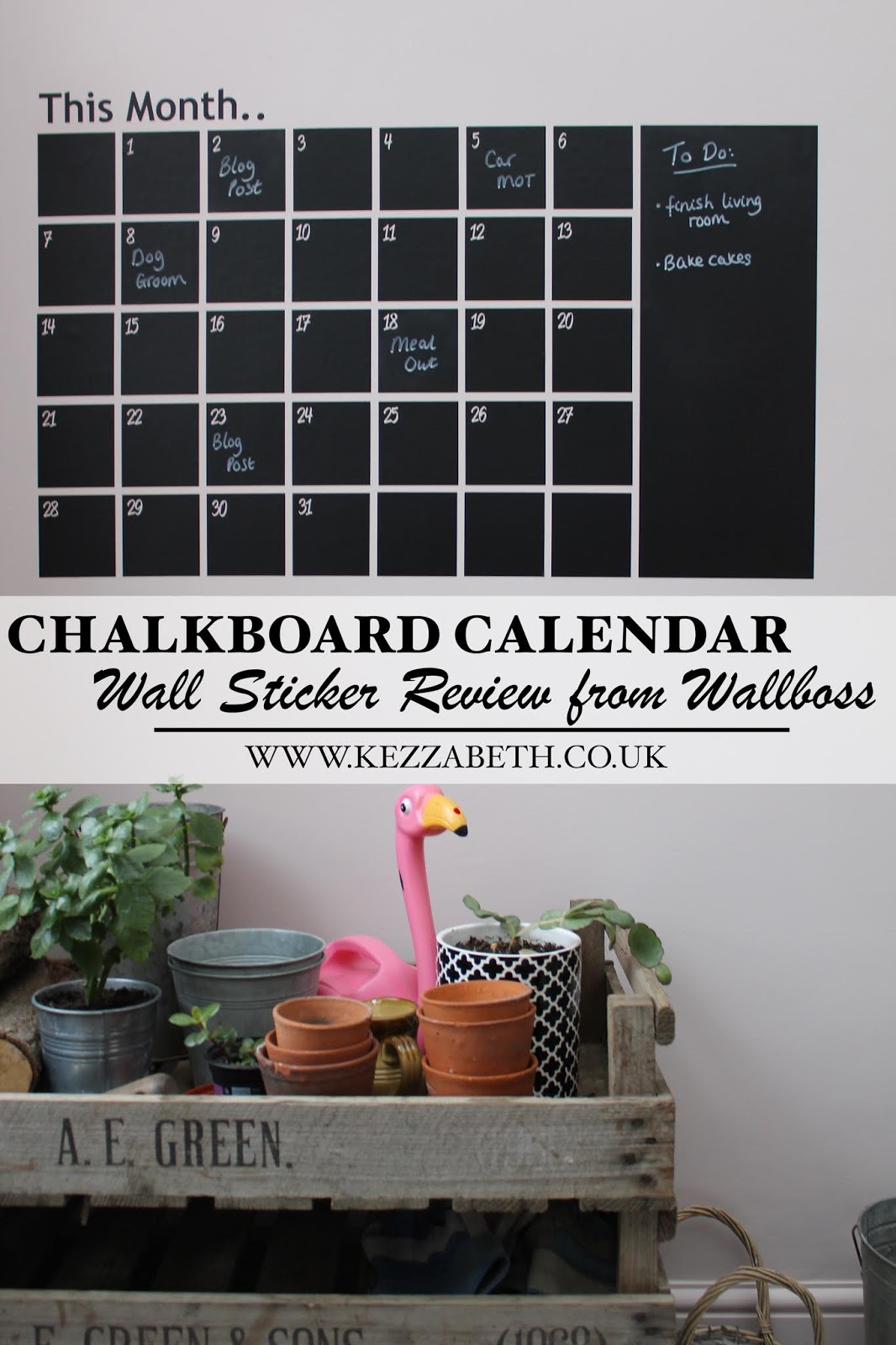 Chalkboard Calendar Wall Sticker Review
