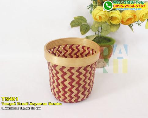 Tempat Pensil Anyaman Bambu