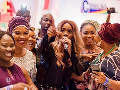 Photos Of Tiwa Savage Performing At The 17th Annual National Women's Conference