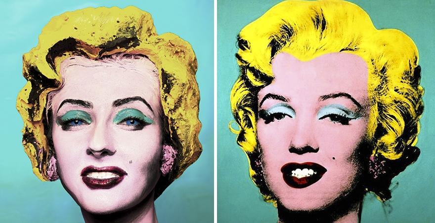 02-Being-Andy-Warhol-Bella-Grigoryants-Body-Painting-Recreations-of-Famous-Paintings-www-designstack-co